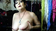 Mature Woman Plays With Her Tits