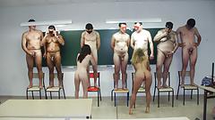 Horny teachers sucking in classroom