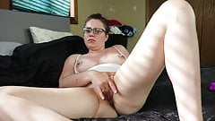 Slut Cums Fucking Hard and Eats Her Own Cum