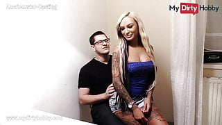 MyDirtyHobby - Blonde hooker fucks virgin nerd at his bday
