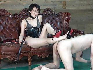 Cbt training cock Japanese femdom cbt and facesitting training