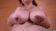 Big titted Latina grannies Brenda and Gloria love going solo