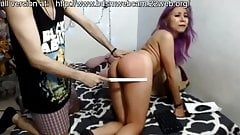 Luisa whip punishment. slapping the submissive slave
