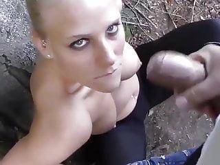 Cum blast on face Public girl big blast cum on face