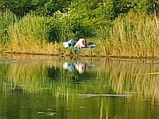 Boy who fucks fish Fucking at fishing lake