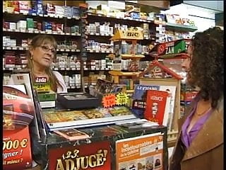 Erotic mother store Old man fucks them in convenience store