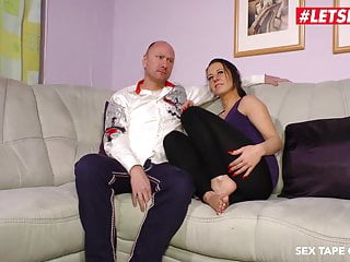 Tits taped tight - Letsdoeit - deutsche couple recording their first sex tape