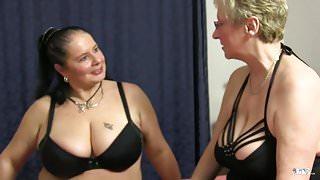 XXX OMAS - Hot lesbian threesome with horny German grannies