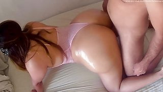 Perfect Big Ass Got Oiled Up And A Cumshot In Her Ass
