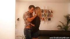 Erotic Blonde Lover Making Hot Love