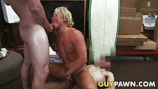 Pawn brokers pounding surfers sweet ass in the back room