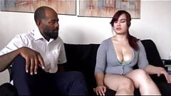 Asian chubby girl blackmailed by her black teacher