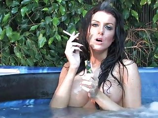 Fiona big tits Fiona graham big tits smoking in jacuzzi