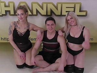 Oscar nude Oscar vs amity monroe 19 vegas mixed wrestling action