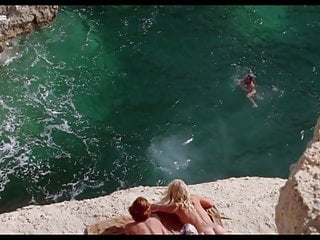 Sunbathers at nude beach - Nude celebs - sunbathing scenes vol 1
