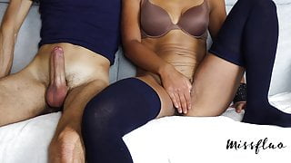 MF - Hairy Pussy Teen Squirts, Pussy Contractions A91