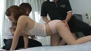 Uncensored Japanese debut – groped and fondled and more