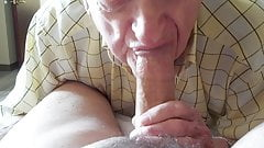 Dentured Grandpa sucks a nice one!