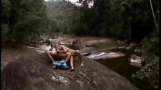 Amazing Latina beauty gets her ass banged, takes a load outdoors