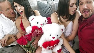DaughterSwap - Valentines Day Daughter Orgy