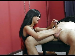 Gay bondage on straight men Mistress torturing and jerking bondaged men