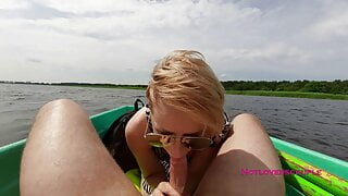 Boat ride with a horny girl