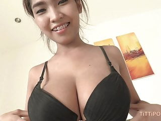 Interview while fucking Big asian knockers bouncing while fucking