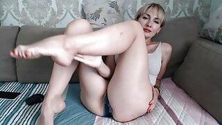 Slim mature Ukrainian shows her charms