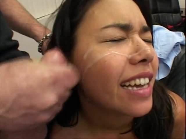 Busty Brunette Amateur Facial