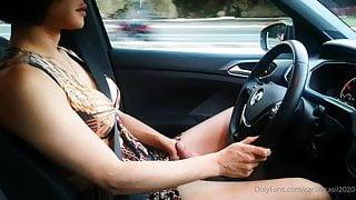 Carla brasil handjob on car