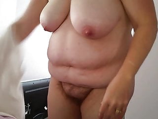 Hairy fat girls in panties videos Bbw hairy pussy, big tits, black sexy pantys on fat ass