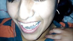 cute indian teen face covered with cum