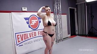 Nikki Sequoia vs Shelby Paris in Rough Lesbian Sex Fighting