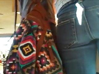 Teen ass cam Very small teen ass in jeans hidden cam