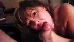 Sucks and cum