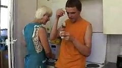 mom loves  to drink a cup of thea with her Son's friend