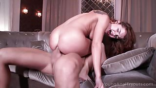 Young Anal Tryouts - Sexy lady seduces dude into satisfying