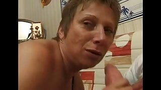 FRENCH MATURE 10 blonde anal step mom milf in threesome