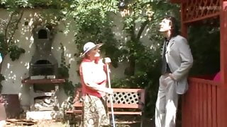 Granny in the garden