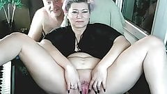 Addams-Family couple webcams invite you to their bedroom ))