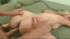 Blonde housewife can't wait for that porn star dick