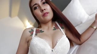 Making Love With Asian Tattooed Beautiful Girl At Home