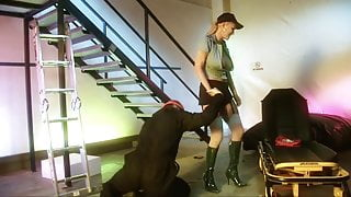 Policewoman Carly gives her partner a wet blowjob and passionate fuck