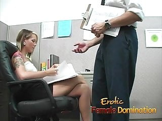 Domination hard Skinny office slut dominates her co-workers hard cock