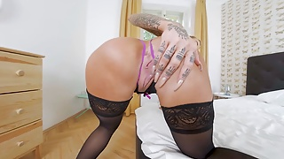 LustReality Sexy Black Lingerie VR Porn