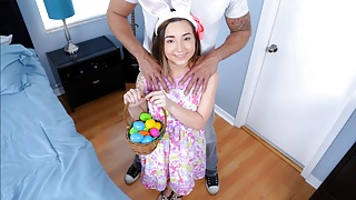 Petite Teen Fucked By Huge Cock While Easter Egg Hunting