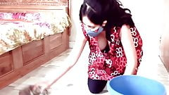 Home cleaning big boobs Kannada girl boobs