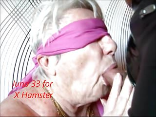 Sucking my own hard cock Granny blindfolded sucking my hard cock deep