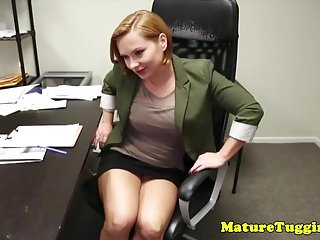 Tug of cocks Office stepmom tugging pervert stepsons cock