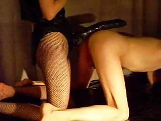 Miss gay usoa - Miss b drills slave p with a huge strap-on